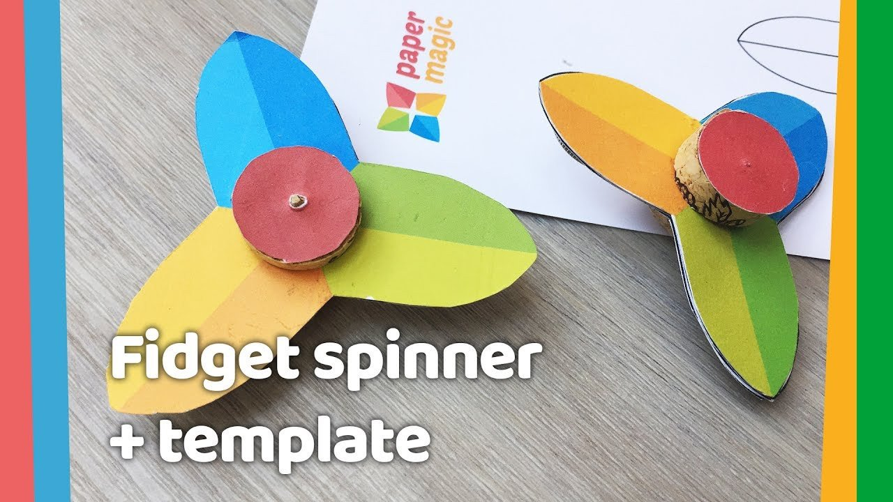 Paper Spinner Template Easy Diy Paper Fid Spinner for Kids to Do at Home
