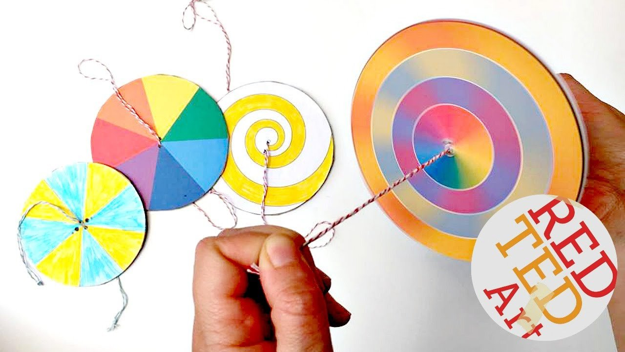 Paper Spinner Template Easy Paper Spinners Steam Color theory Paper Crafts