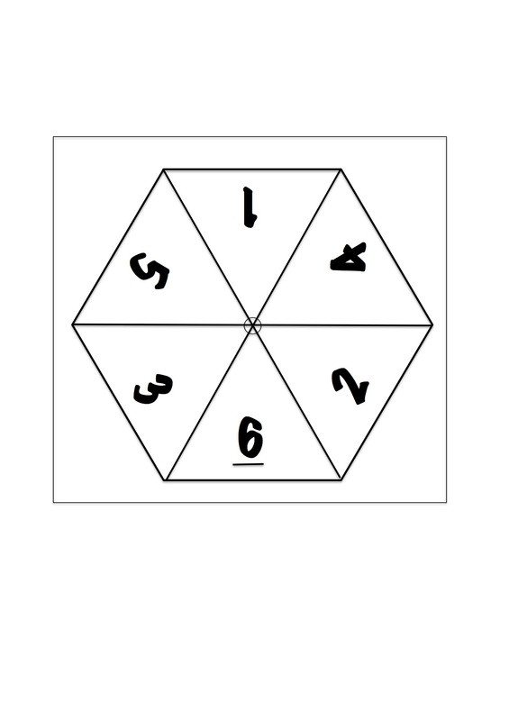 Paper Spinner Template Number Spinners for Maths