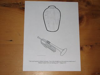 Paper Trumpet Craft Template Bible Story Hour Unit 1 Lesson 15 Gideon