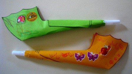 Paper Trumpet Craft Template Blow Your Own Paper Shofar