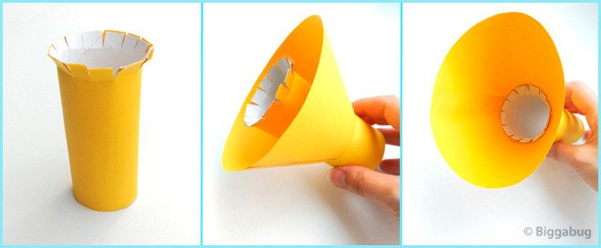 Paper Trumpet Craft Template Cardboard Tube toy Trumpet Recycling Craft Tea Time