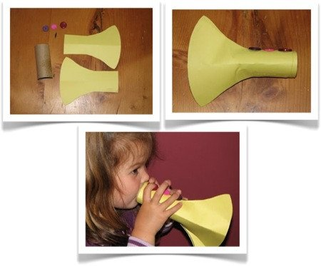 Paper Trumpet Craft Template Preschool Crafts for Kids Easy Trumpet Music Craft