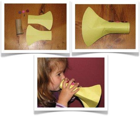 Paper Trumpet Craft Template Preschool Crafts for Kids Easy Trumpet Music Craft