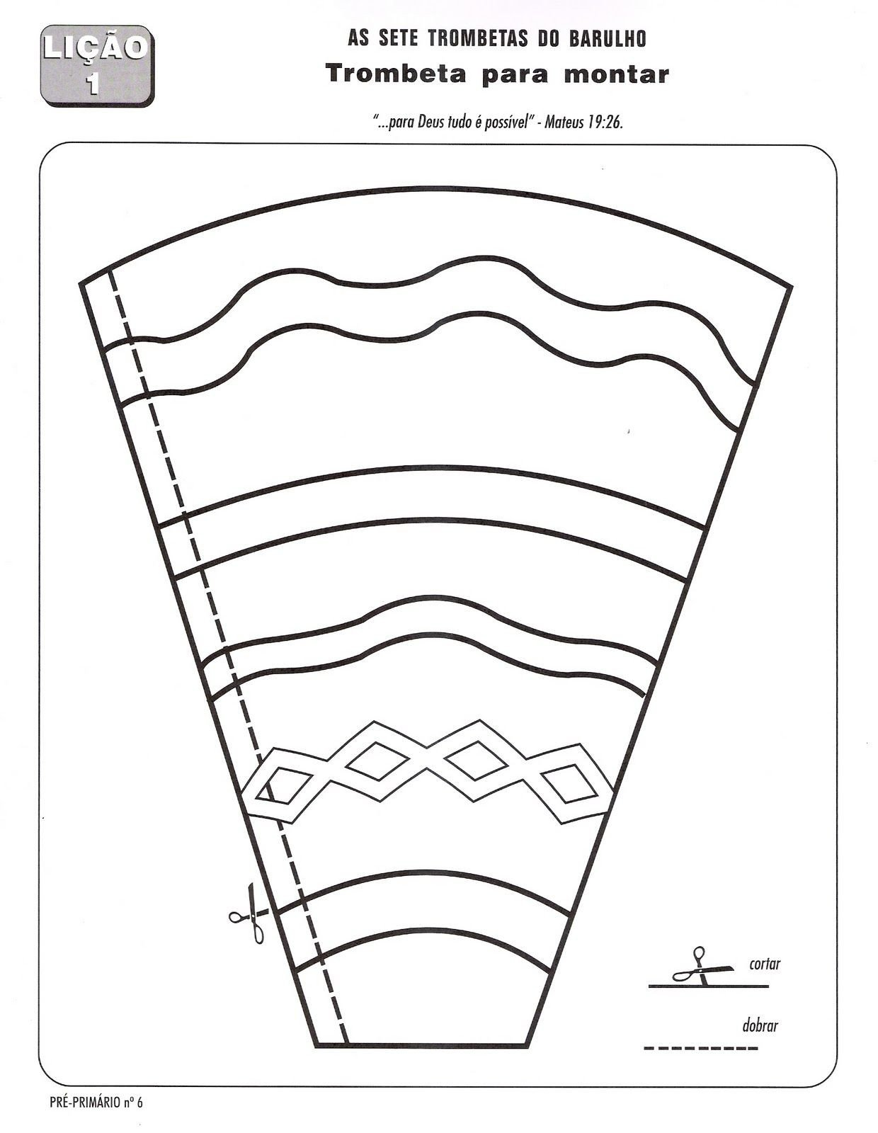 Paper Trumpet Craft Template Trompeta Jerico Pinterest