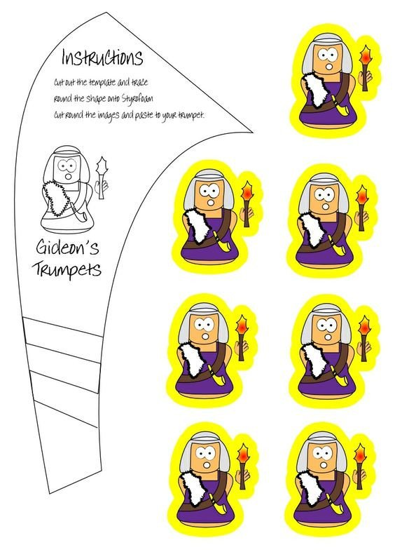 Paper Trumpet Craft Template Trumpet Judges and Battle Of Jericho On Pinterest