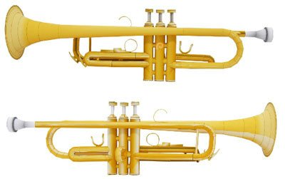 Paper Trumpet Craft Template Trumpet Papercraft Paperkraft Free Papercraft