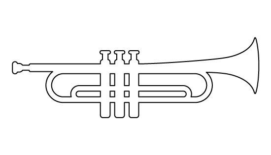 Paper Trumpet Craft Template Trumpet Pattern Use the Printable Outline for Crafts