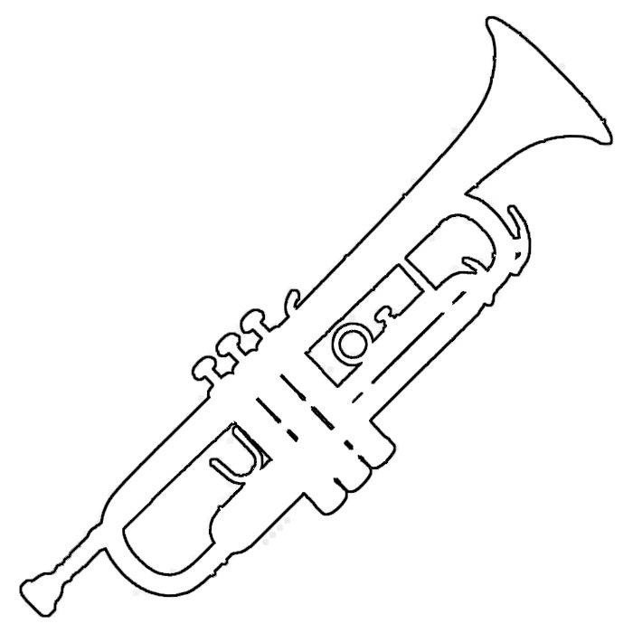Paper Trumpet Craft Template Trumpet Template for Anzac Day