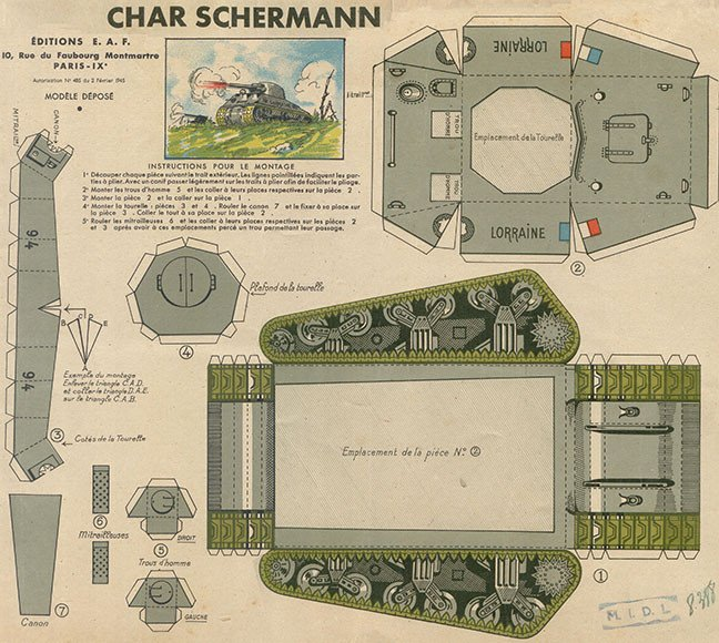 Papercraft Tank Template Chris Nielsen Updates A Sherman Tank Papercraft From 1944