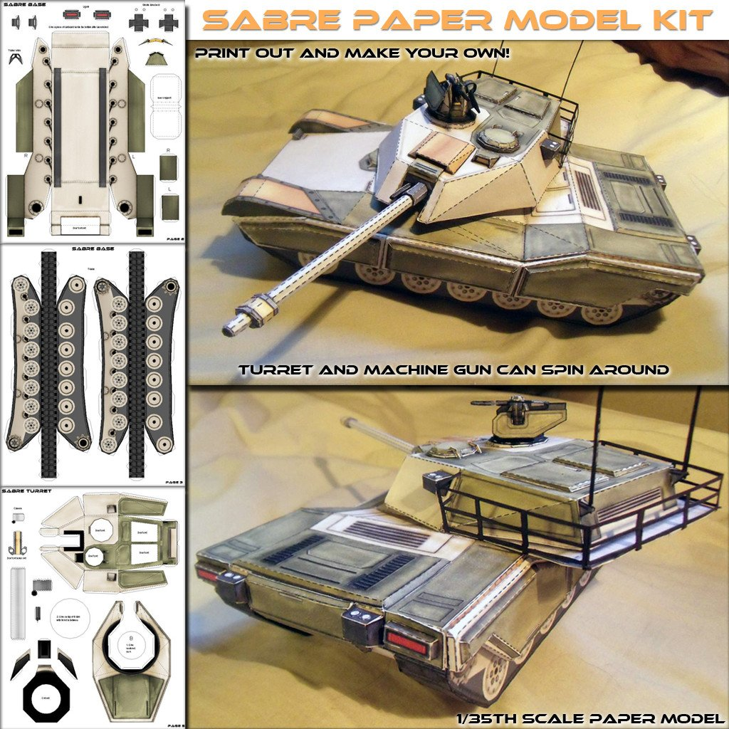 Papercraft Tank Template Sabre Mbt Papercraft Model Spyker Enterprise