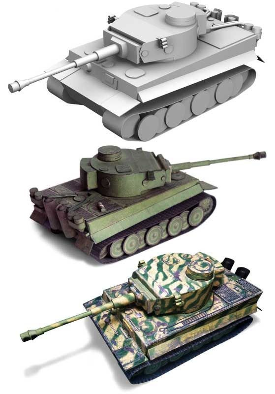 Papercraft Tank Template World Of Tanks Pz Kpfw Vi Tiger Ausf H1 Tank Papercraft