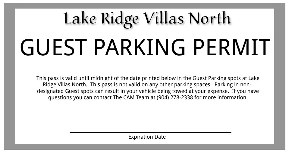Parking Permit Template Word 25 Of Parking Pass Template Word