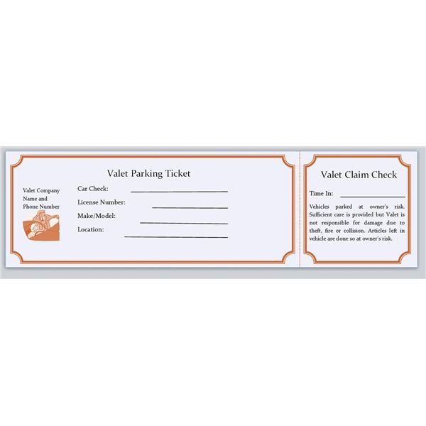 Parking Permit Template Word Download & Use Free Microsoft Publisher Parking Ticket