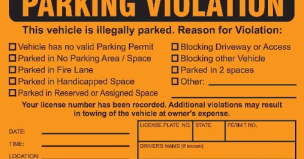 Parking Permit Template Word Parking Ticket Google Search Pranks
