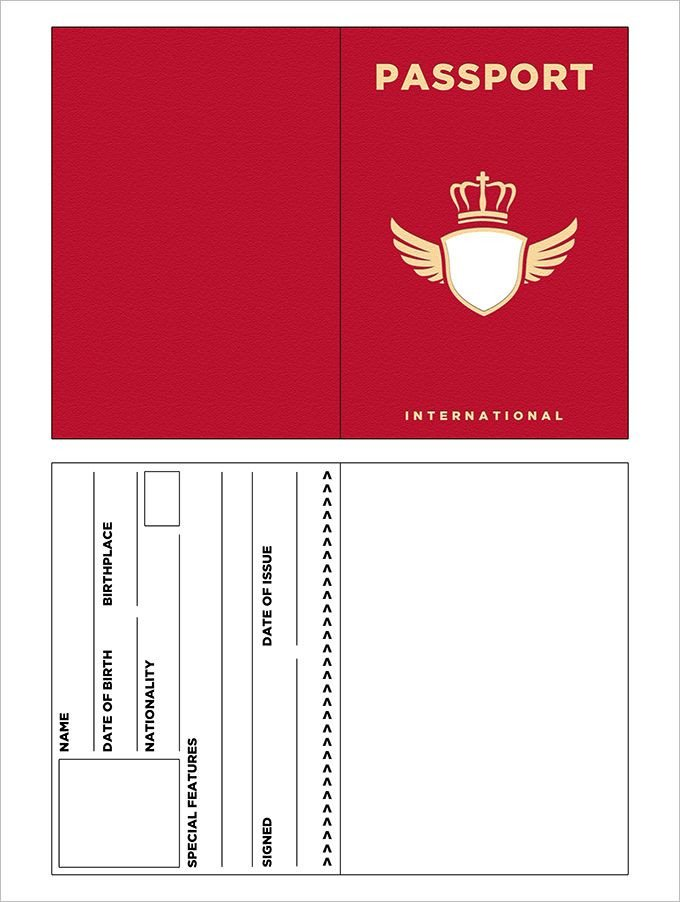 Passport Photo Template Psd 10 Passport Templates Free Word Pdf Documents Download