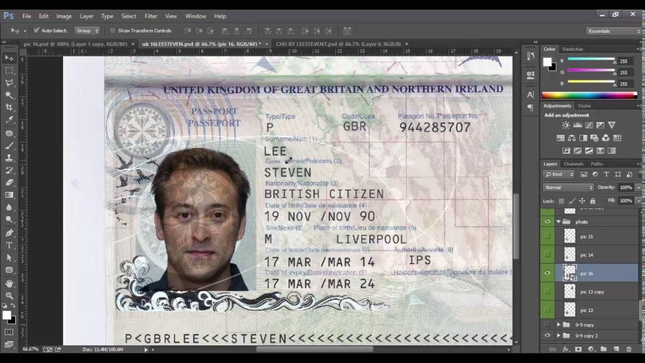 Passport Photo Template Psd New Uk Passport Template Psd Id Uk Psd Template 2016