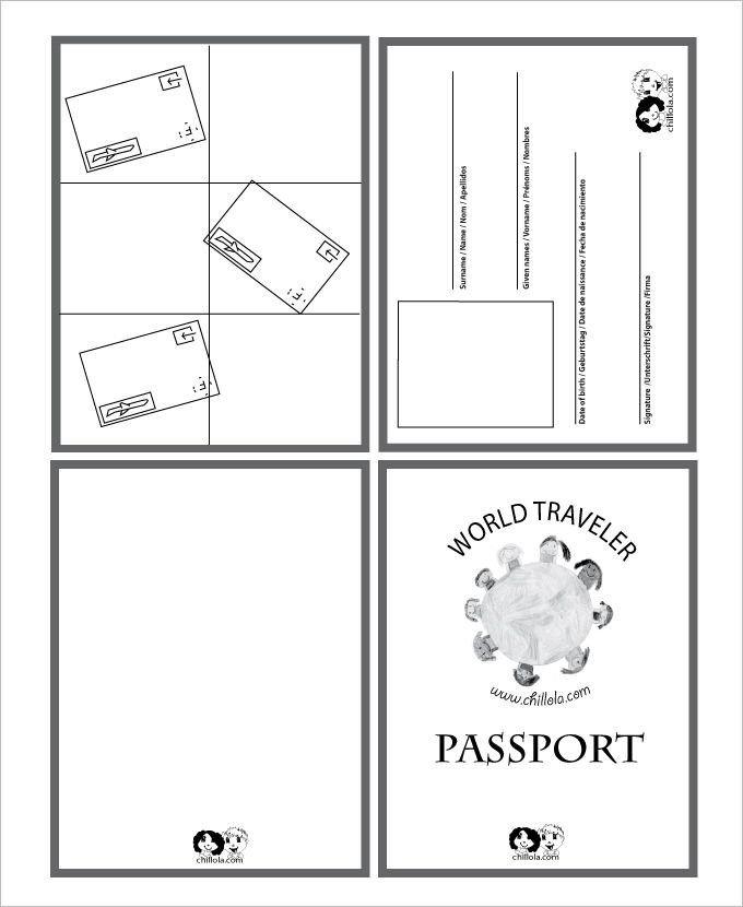 Passport Photo Template Psd Passport Template – 19 Free Word Pdf Psd Illustrator