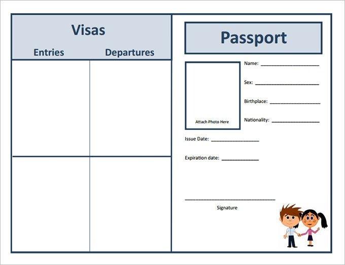 Passport Photo Template Psd Passport Template