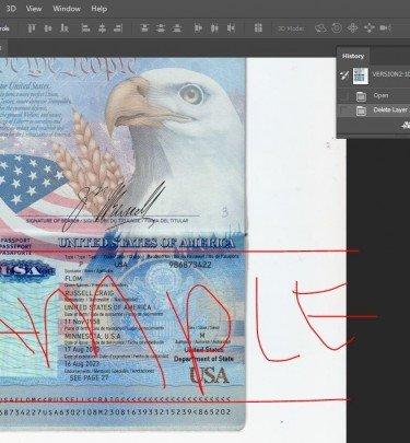 Passport Photo Template Psd Psd