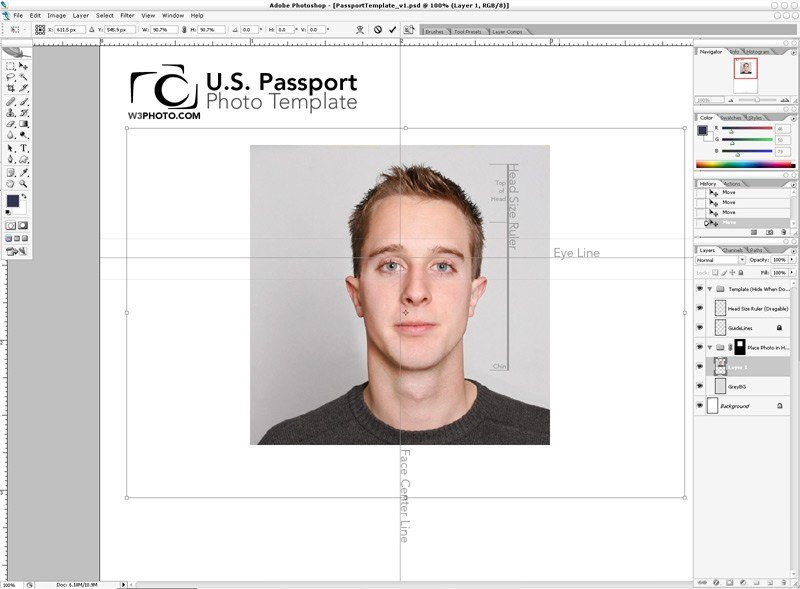 Passport Photo Template Psd Shop Passport Template V1 1