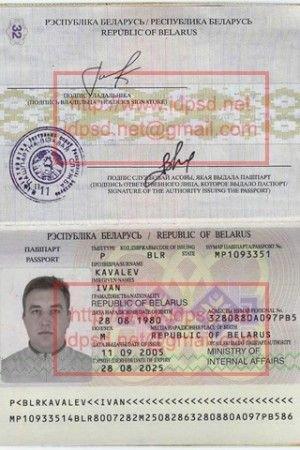 Passport Photo Template Psd Template Belarus Passport Psd
