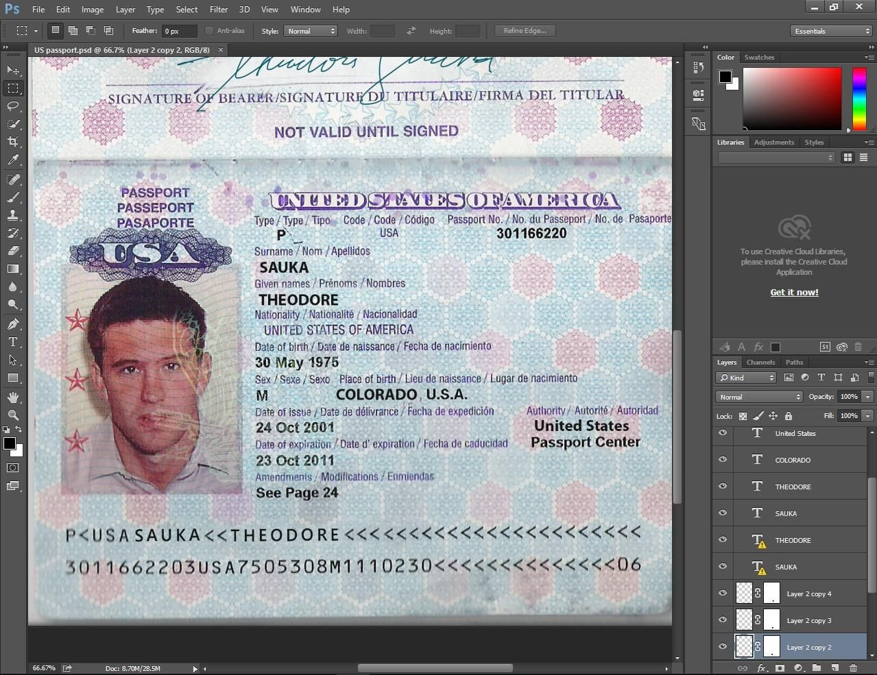 Passport Photo Template Psd Usa Passport Psd Template Passport Pinterest