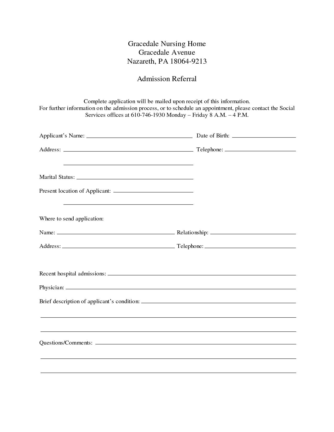 Patient Discharge form Template 9 Best Of Free Printable Hospital Discharge forms