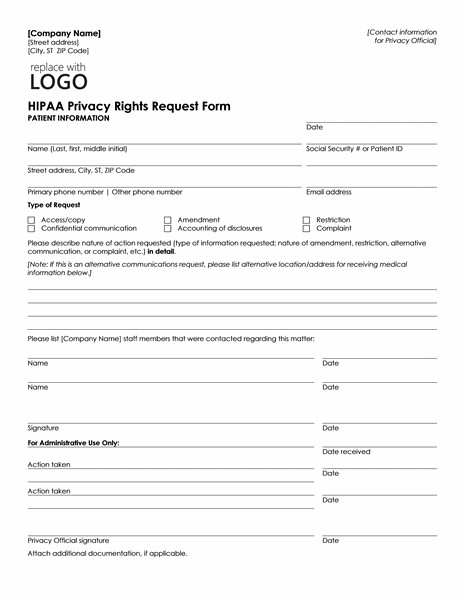 Patient Information form Template Patient Health Information Request form Can Be Used by