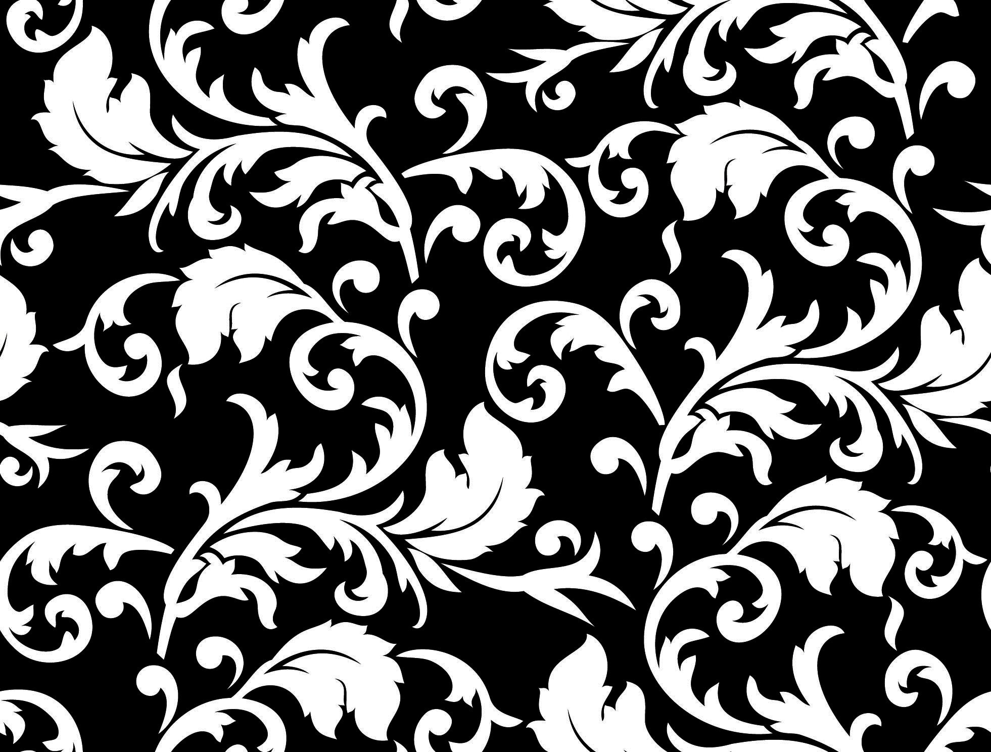 Patterns Black and White Black and White Floral Patterns