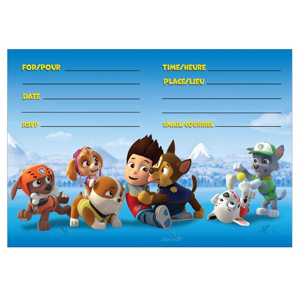 Paw Patrol Invitation Templates 8 Pawsome Paw Patrol Birthday Invitations