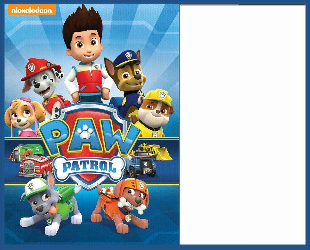 Paw Patrol Invitation Templates 8 Pawsome Paw Patrol Birthday Invitations