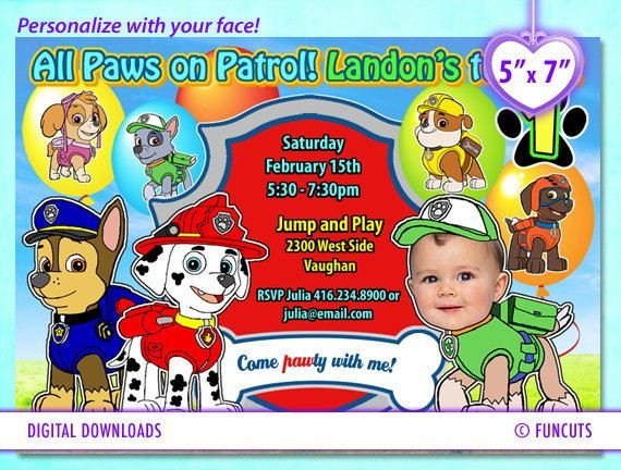 Paw Patrol Invitation Templates Best 20 Paw Patrol Birthday Card Ideas On Pinterest
