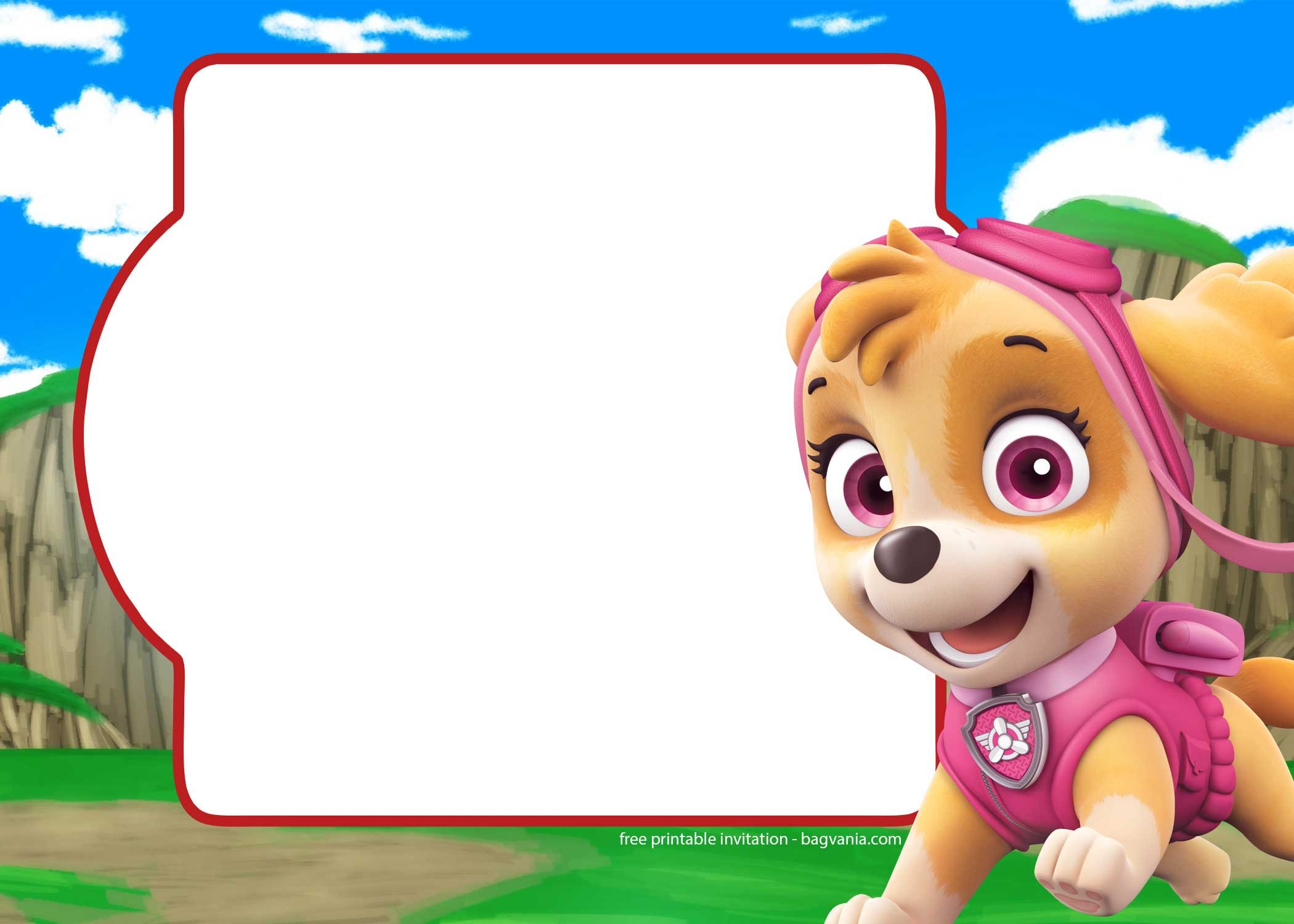 Paw Patrol Invitation Templates Free Paw Patrol Invitation Template – Plete Collection