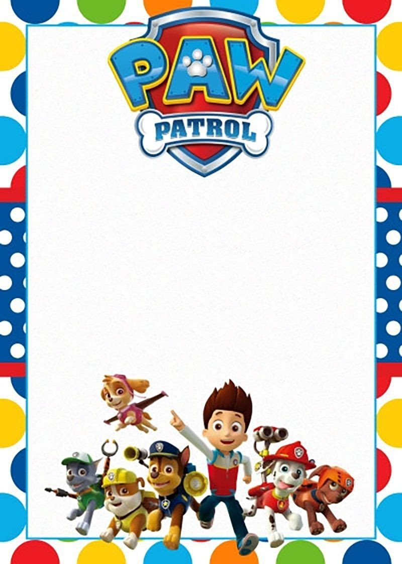 Paw Patrol Invitation Templates Free Printable Paw Patrol Invitation Template