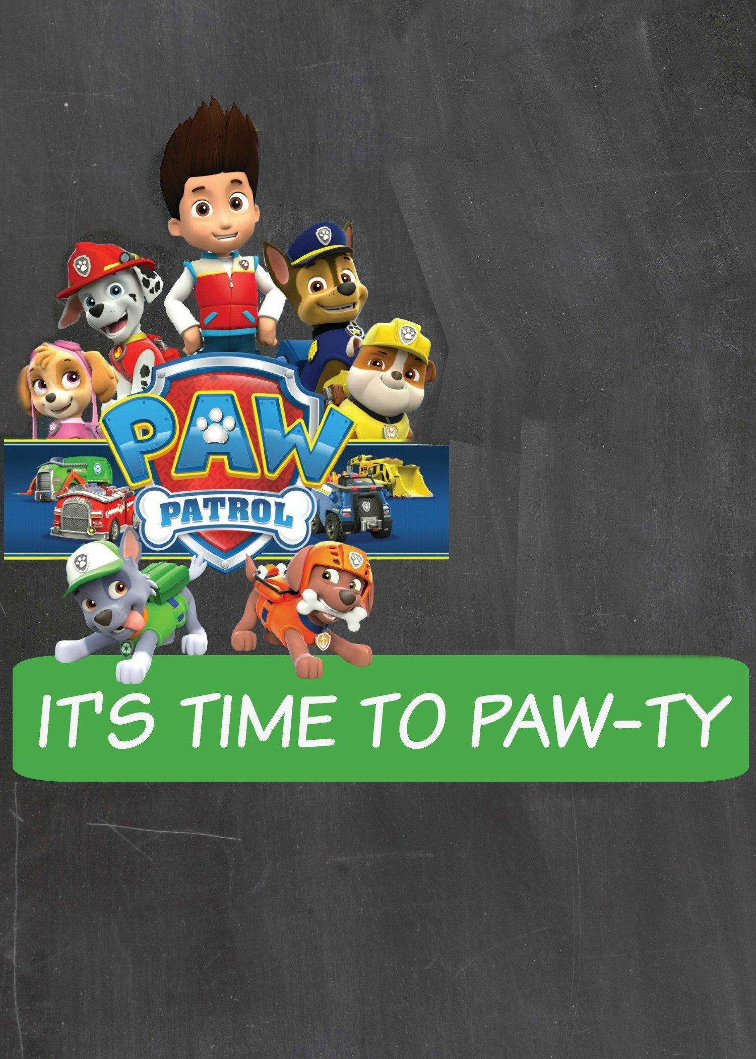 Paw Patrol Invitation Templates How to Make A Paw Patrol Digital Invitation