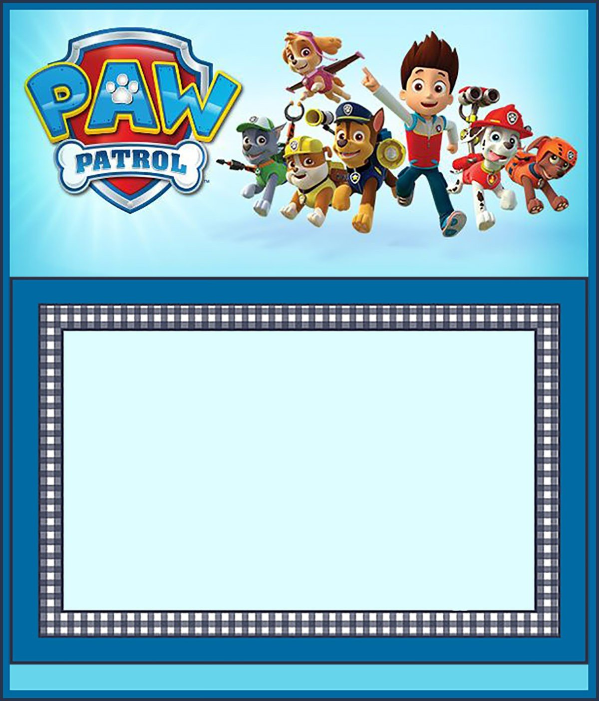 Paw Patrol Invitation Templates Make Printable Paw Patrol Invitations Using Free Templates