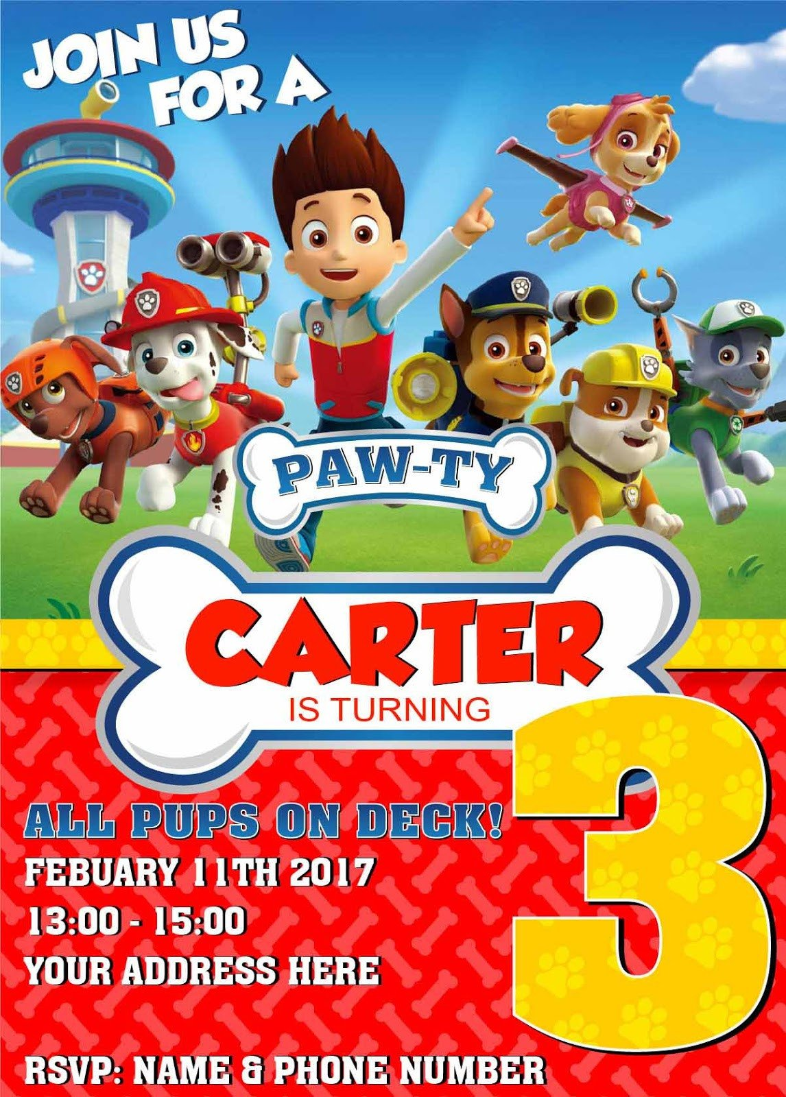 Paw Patrol Invitation Templates Paw Patrol Birthday Invitation