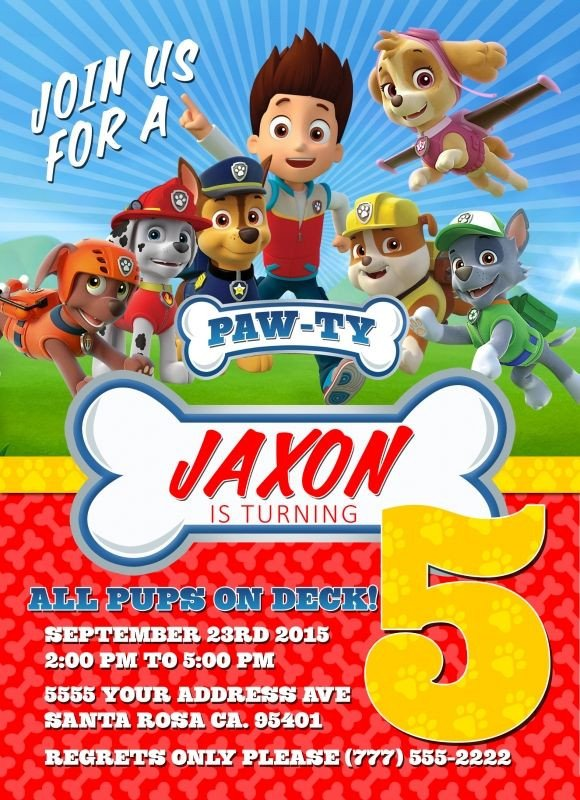 Paw Patrol Invitation Templates Paw Patrol Birthday Invitations Free Printable