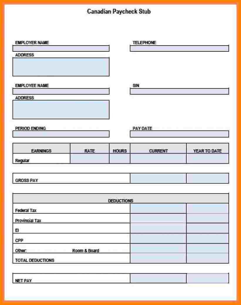 Pay Stub Template Google Docs 12 Pay Stub Example Excel