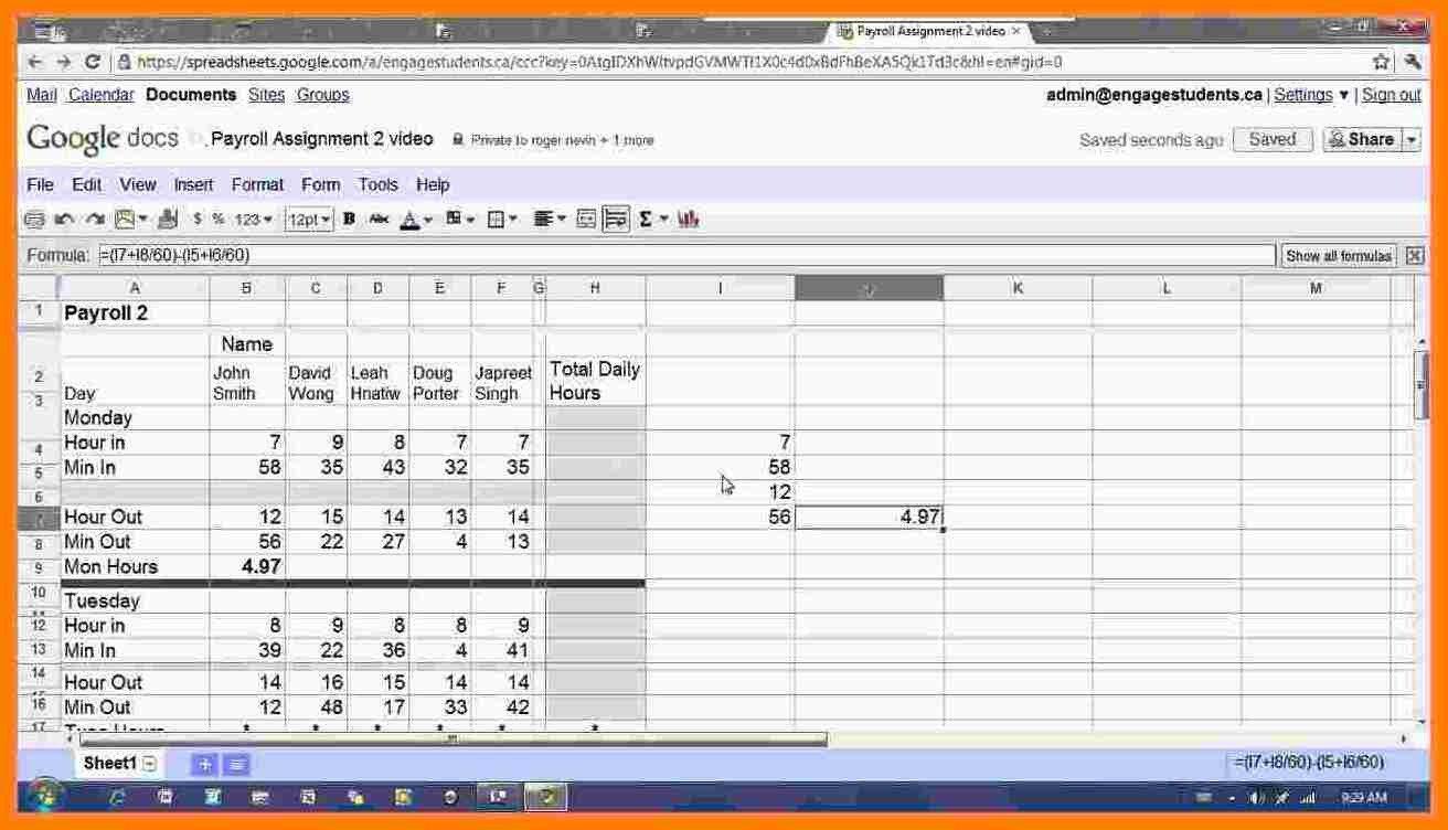 Pay Stub Template Google Docs 7 Google Sheets Pay Stub Template