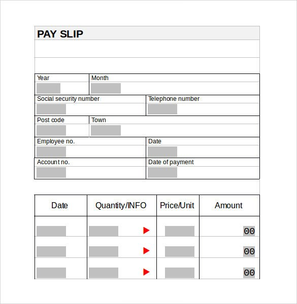 Pay Stub Template Word Document Pay Stub Template 15 Download Free Documents In Pdf