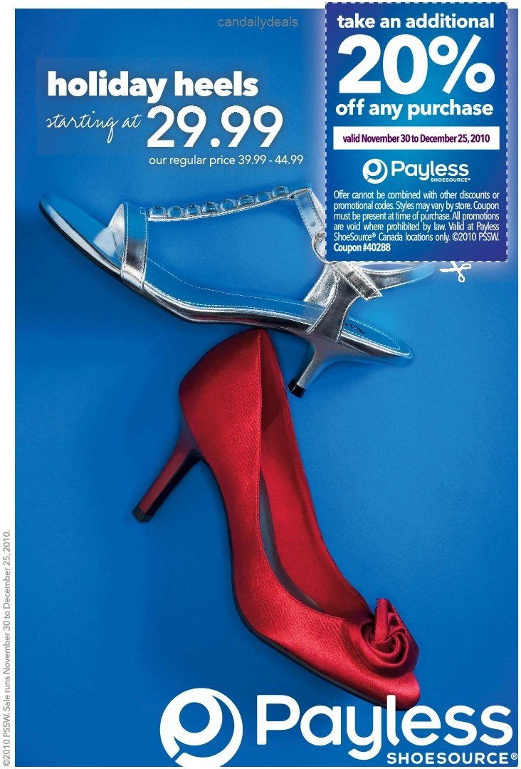 Payless Printable Application Canadian Daily Deals Payless Shoes F Printable