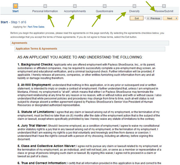 Payless Printable Application Payless Career Guide – Payless Application