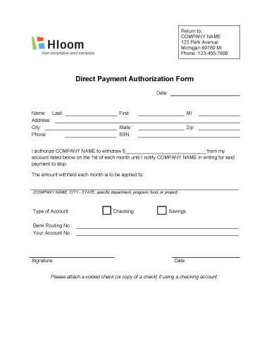 Payment Authorization form Template Credit Card Authorization forms • Hloom