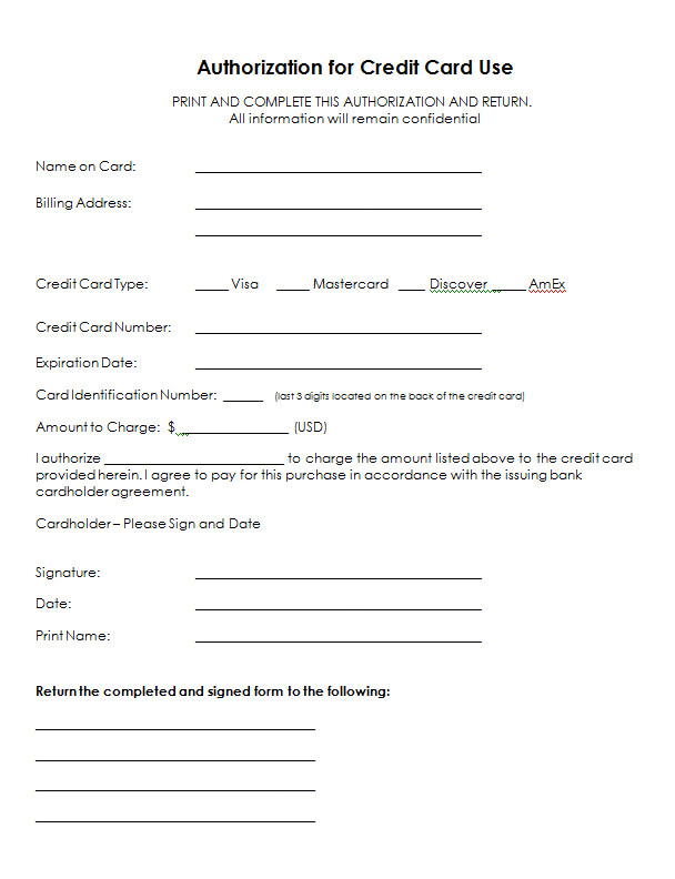 Payment Authorization form Template Credit Card Info form Google Search Sja
