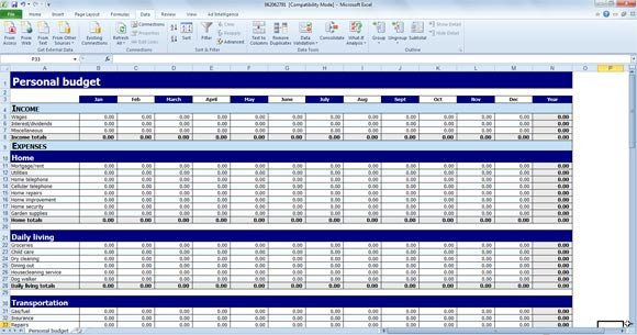 Personal Budget Templates Excel Free Personal Bud Template for Excel
