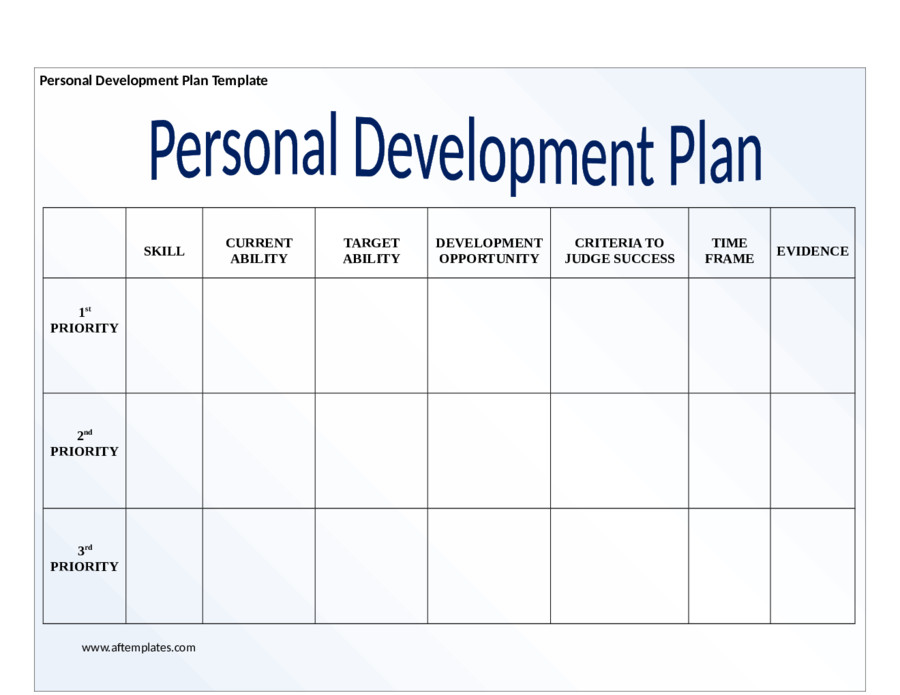 Personal Improvement Plan Template 2019 Personal Development Plan Fillable Printable Pdf