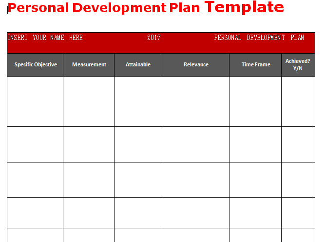 Personal Improvement Plan Template Get Personal Development Plan Template Word Microsoft