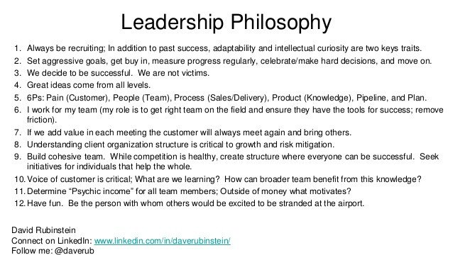 Personal Leadership Philosophy Examples Leadership Philosophy